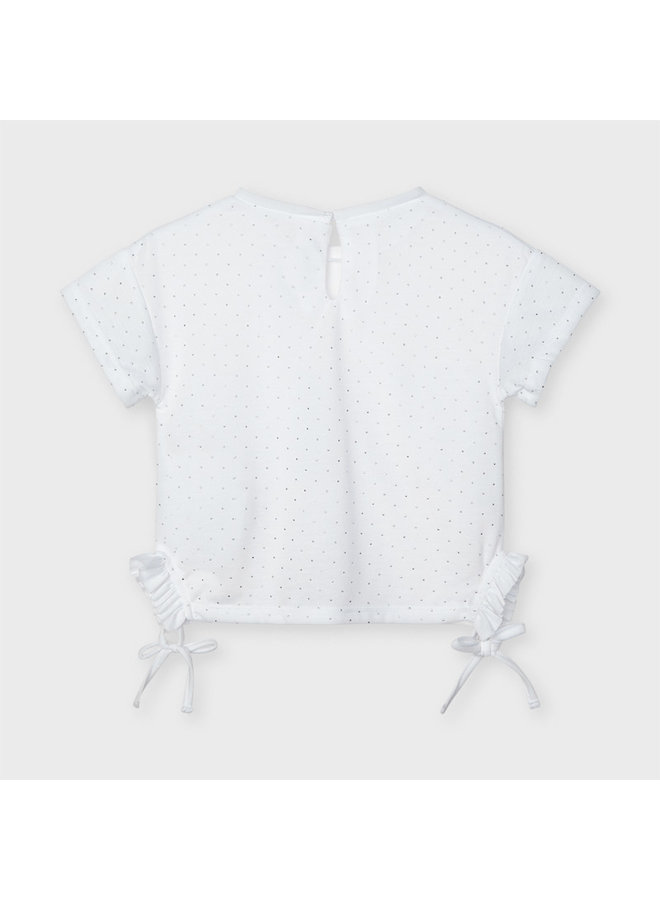 Mayoral - Shirt Strass - White