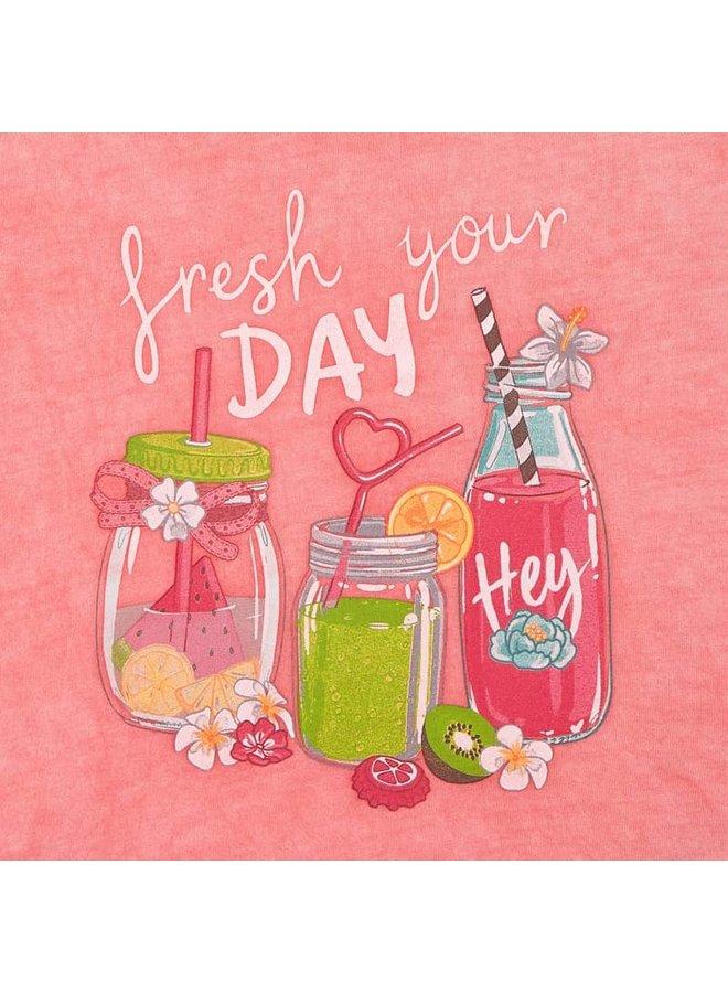 Mayoral - Shirt Fresh Your Day - Flamingo