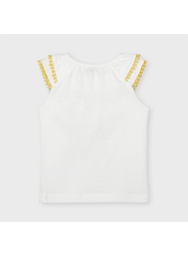 Mayoral - Sleeveless Shirt Gorgeous - Natural/Yellow