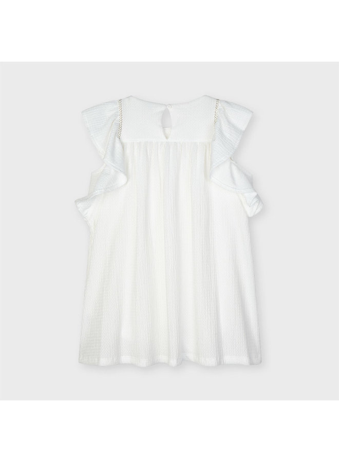 Mayoral - Embroided Aplique Dress - Natural
