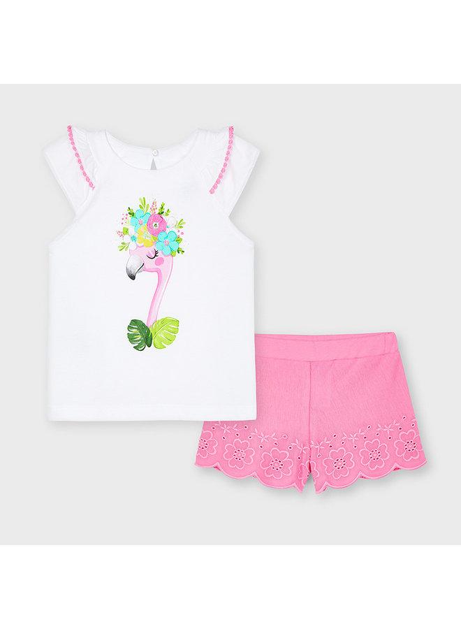 Mayoral - Embroidered Short Set - Camellia