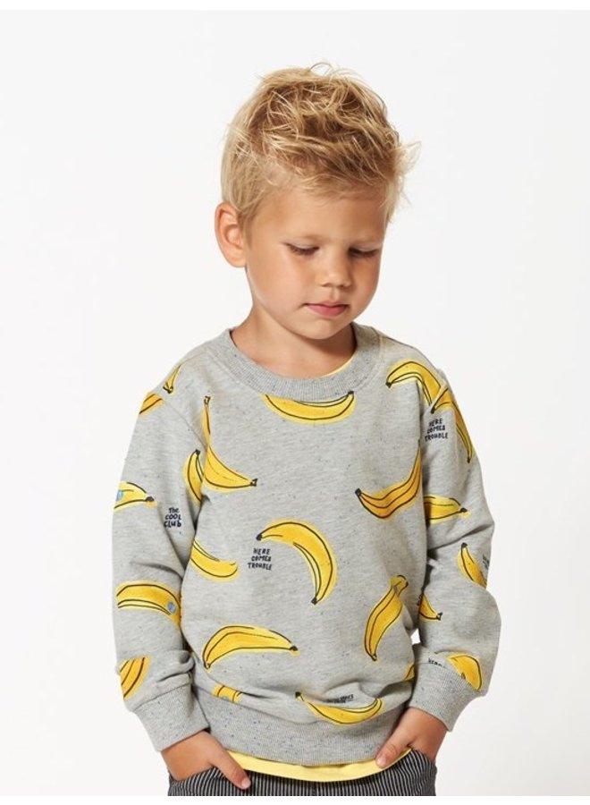 Sturdy - Sweater AOP Grijs Melange - Playground