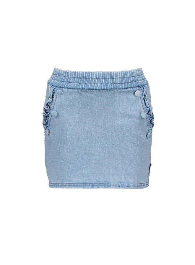 B.Nosy - Denim Skirt With Button Detail At Front Pockets - Curious Denim