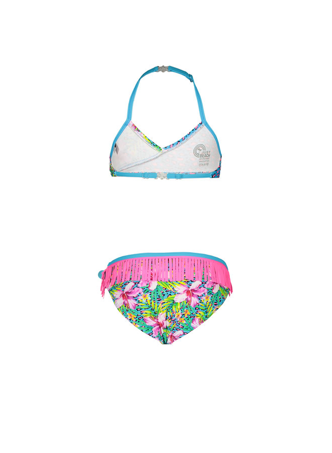 Just Beach - Wrap Bikini With AO - Tropical
