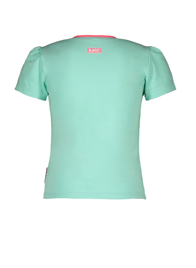 B.Nosy - Straight Shirt With Chest Artwork - Ice Green