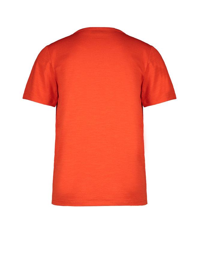 Like Flo - Jersey Tee Chest Artwork - Orange
