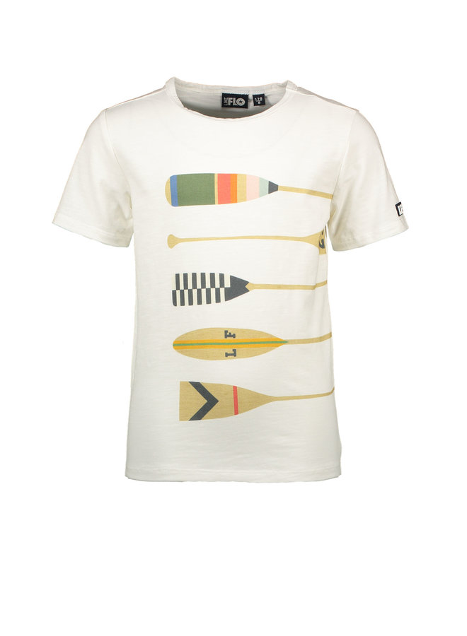 Like Flo - Jersey Tee Peddles - Off white