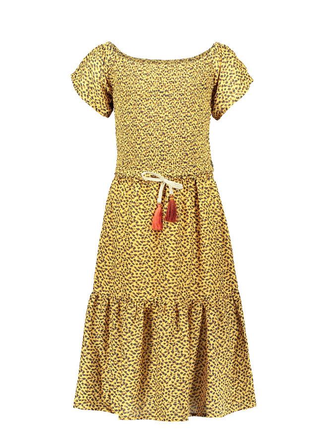 Like Flo - AO Woven Smock Maxi Dress - Panther