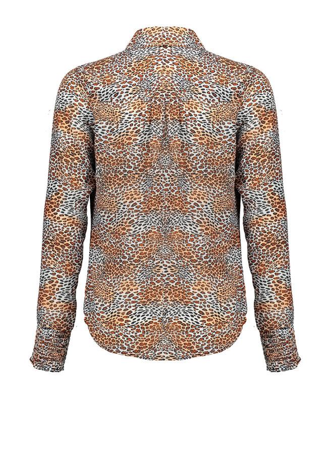 Nobell' - Blouse Tess - Leopard AOP/Ginger