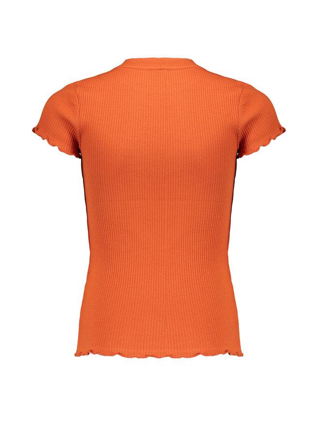 Nobell' - Rib Jersey Shirt Kima - Ginger