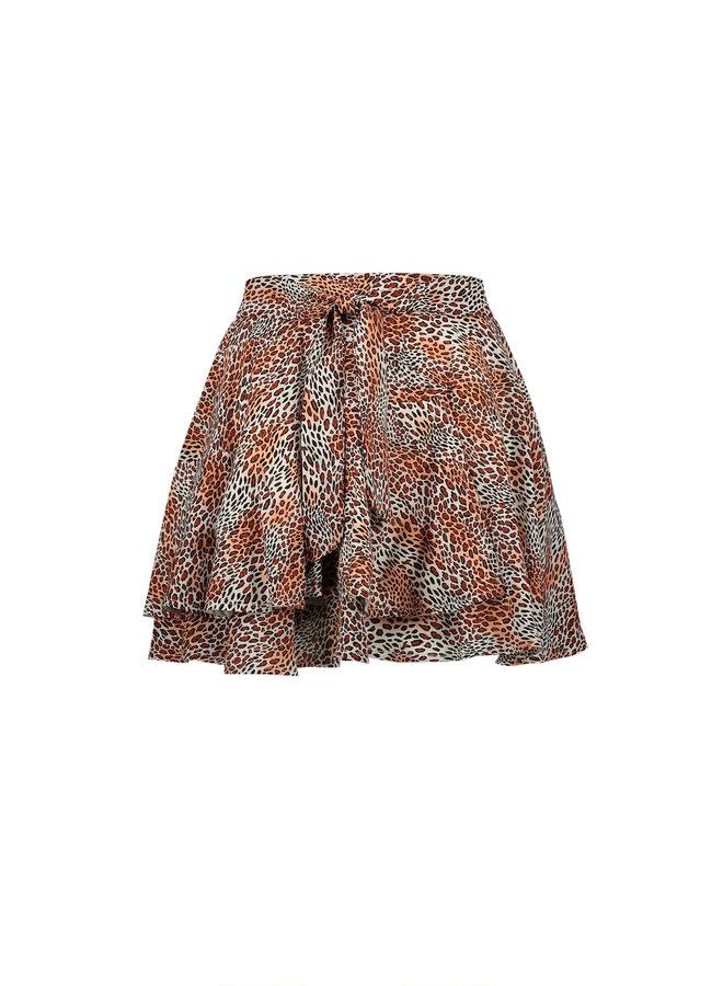 Nobell' - Short Skirt Noa - Leopard AOP/Ginger