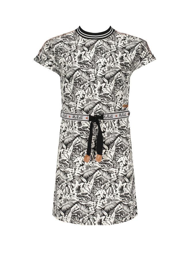 Nobell' - Dress Manou - Tropical AOP/Jet Black