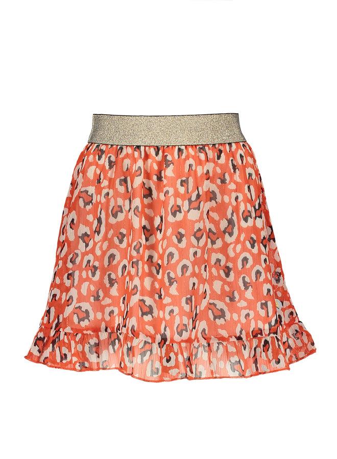 Moodstreet - AO Animal Skirt - Red