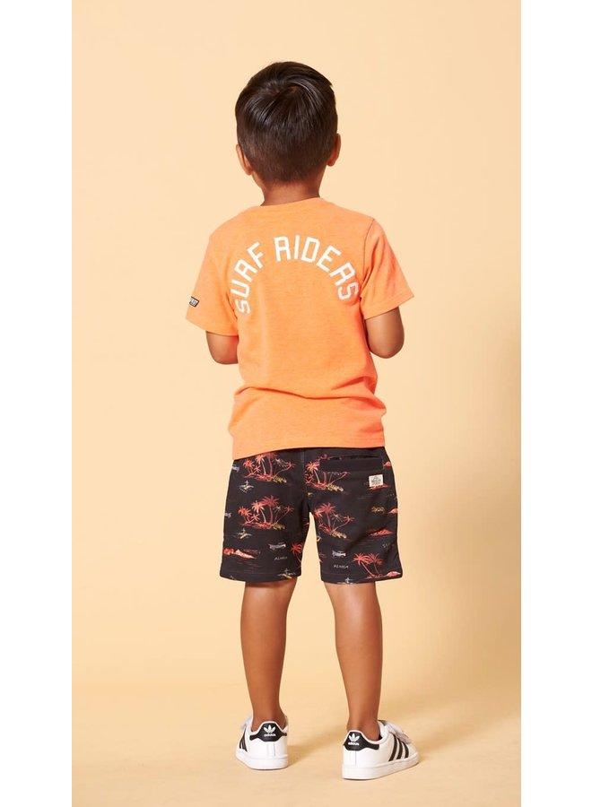 Sturdy - T-shirt Neon Koraal - Happy Camper