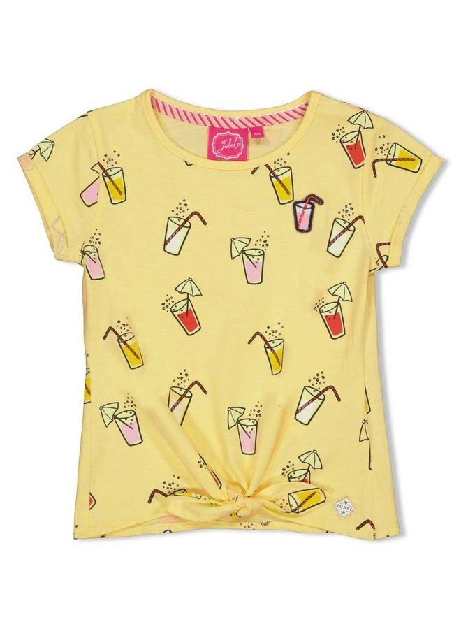 Jubel - T-shirt AOP Geel - Tutti Frutti