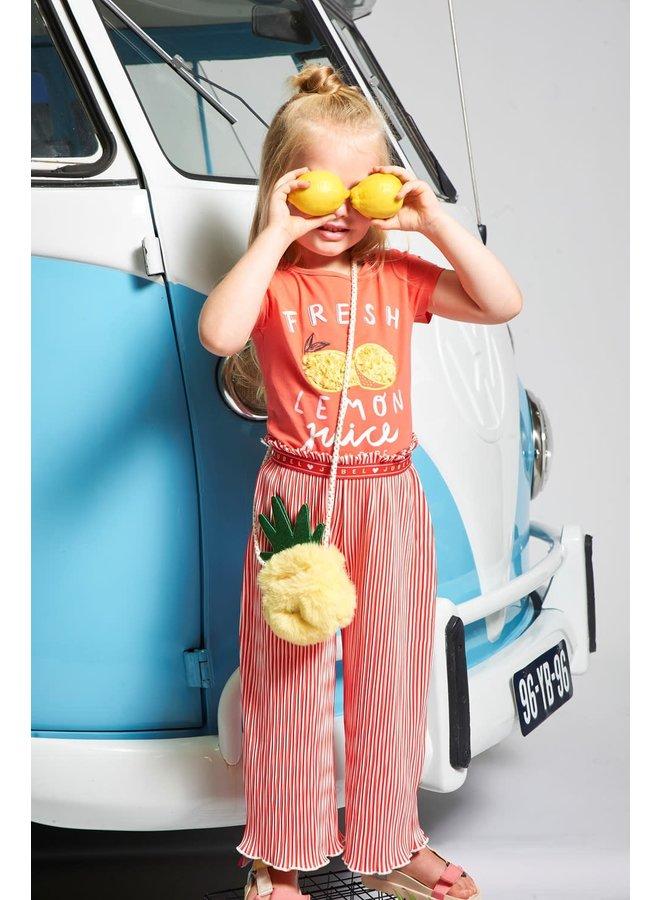 Jubel - Culotte Plissé Koraal - Tutti Frutti