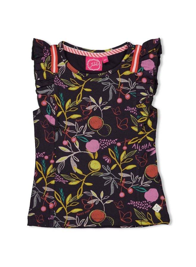 Jubel - T-shirt AOP Antraciet - Tutti Frutti