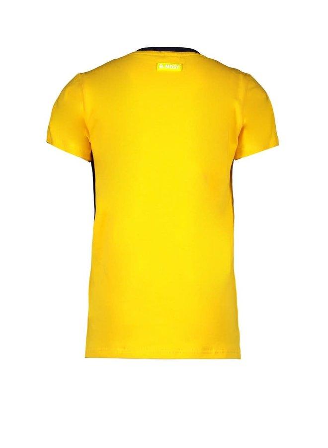 B.Nosy - Short Sleeve Shirt With Contrast Zipper Pocket - Lemon Chrome