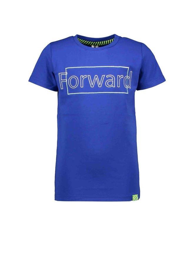 B.Nosy - Short Sleeve Shirt With Chest Artwork - Cobalt Blue