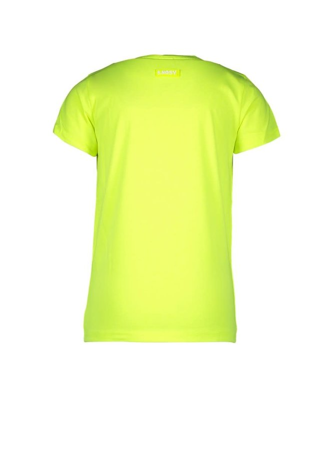 B.Nosy - Short Sleeve Shirt With Chest Artwork - Safety Yellow