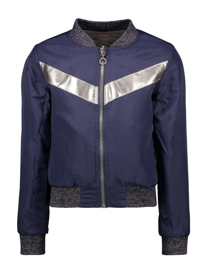 B.Nosy - Reversible Jacket With V-Shaped Chest Detail - Pewter