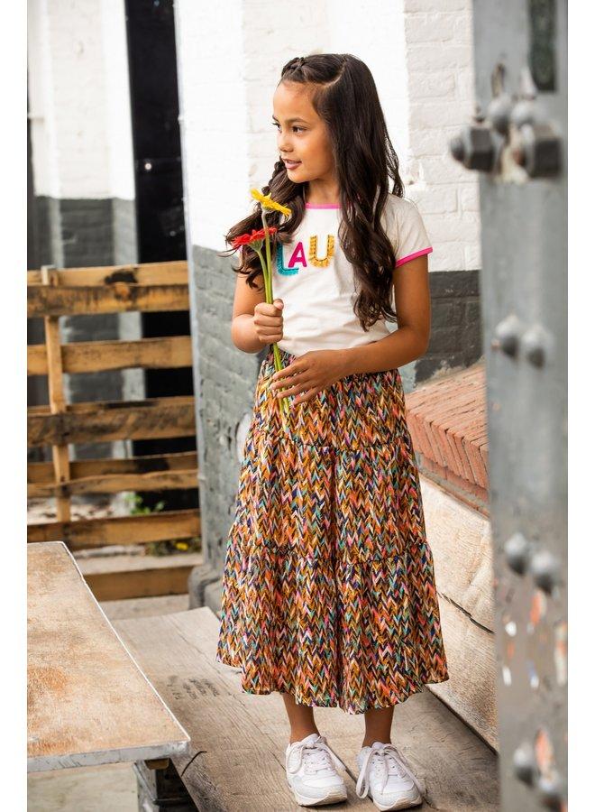 B.Nosy - Woven Midi Skirt - Curious AO