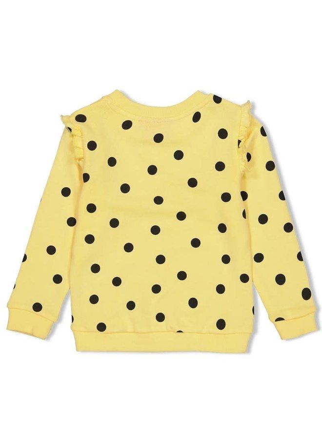 Jubel - Sweater AOP Geel - Tutti Frutti