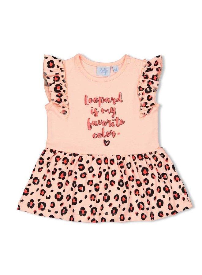 Feetje - Jurk My Favorite Roze - Leopard Love