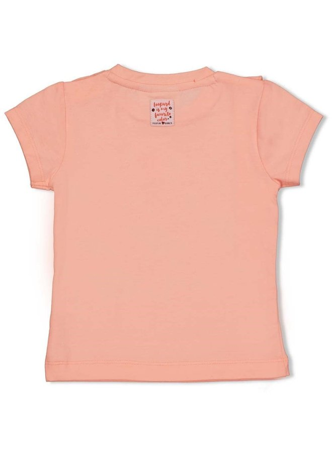 Feetje - T-shirt Roze - Leopard Love