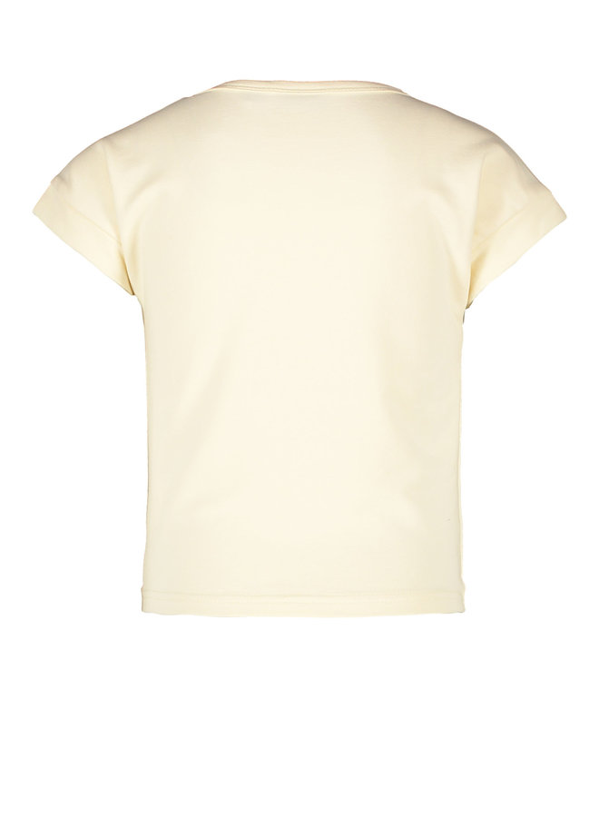 Like Flo - lt Sweat Knotted Sweater - Cream