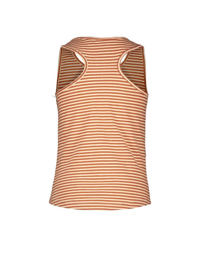 Like Flo - YD Stripe Singlet - Cognac stripe