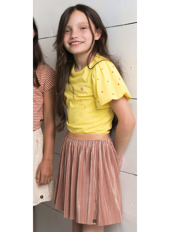 Like Flo - Plisse Skirt - Rose gold