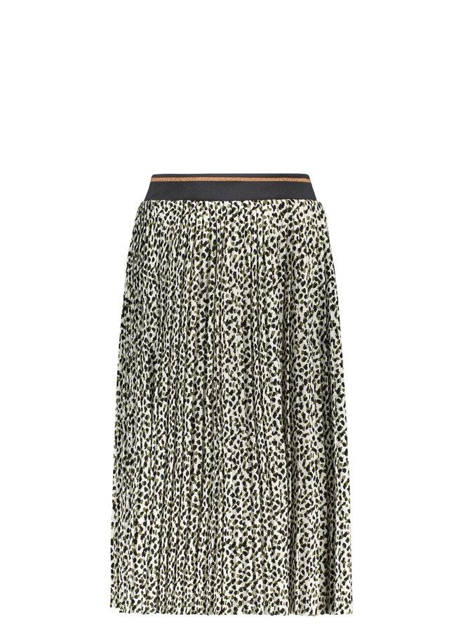 Like Flo - Woven Panter Maxi Skirt - Animal