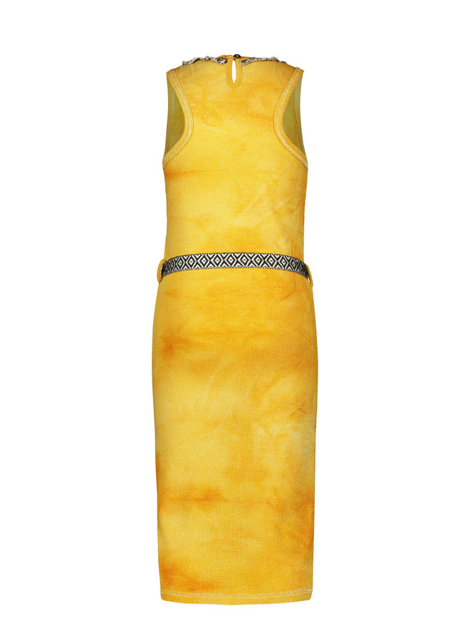 Like Flo - Waffle Bleach Maxi Singlet Dress - Sunflower