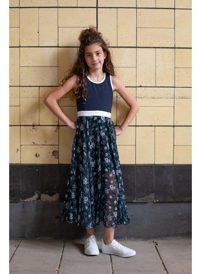 LoFff - Maxi Dress  - Blue Flower
