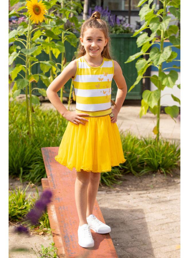 LoFff - Dancing Dress Blockstripe  - Yellow