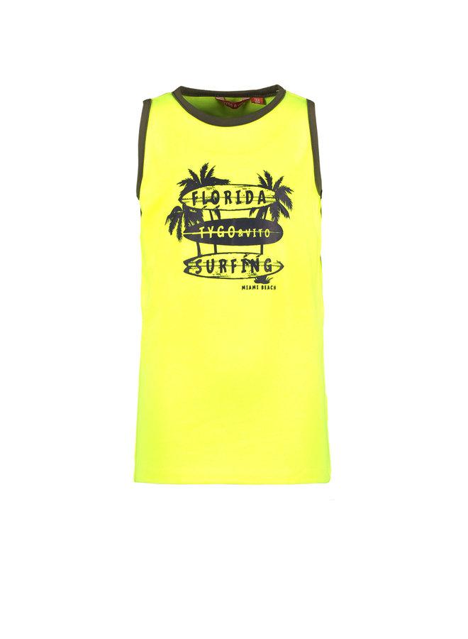 Tygo & vito - Singlet Florida Surfing - Safety Yellow