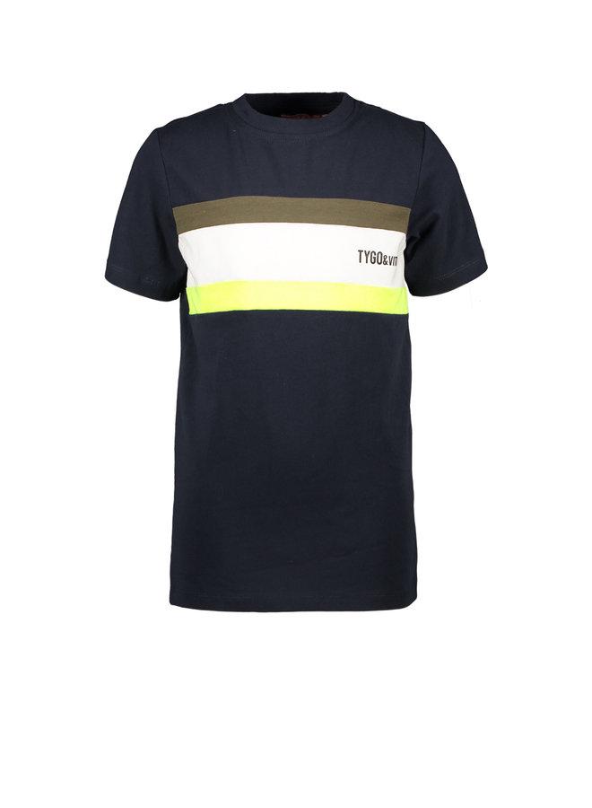Tygo & vito - Shirt Colourblock Small Logo - Black