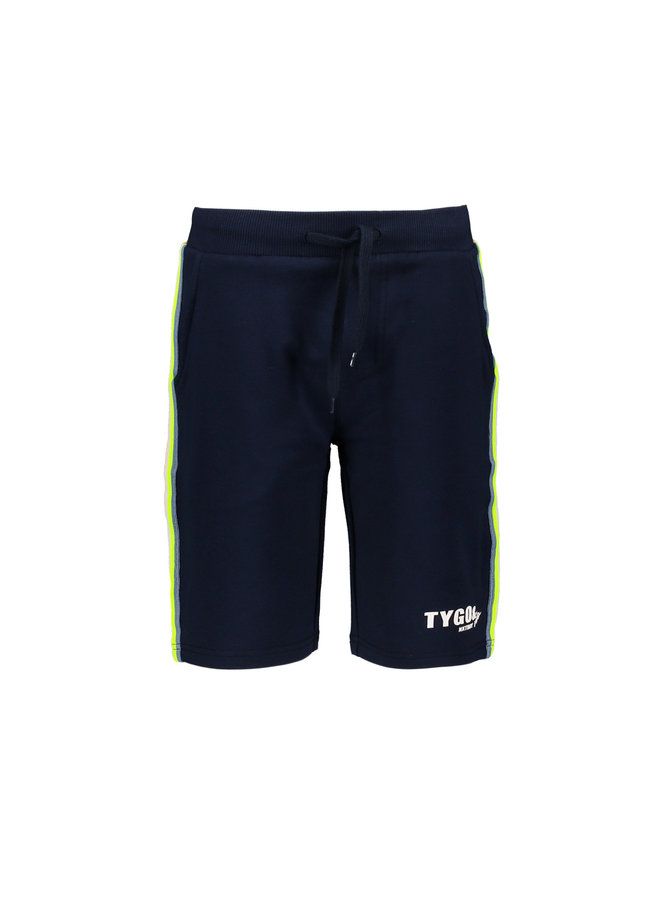Tygo & vito - Jog Short Striped Tape - Navy