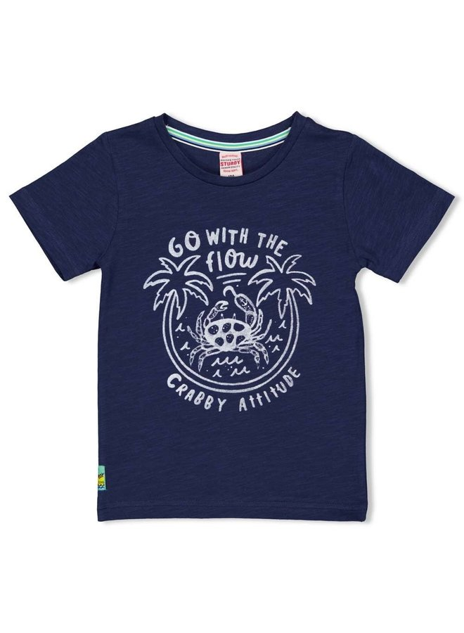 Sturdy - T-shirt Flow Indigo - Smile & Wave