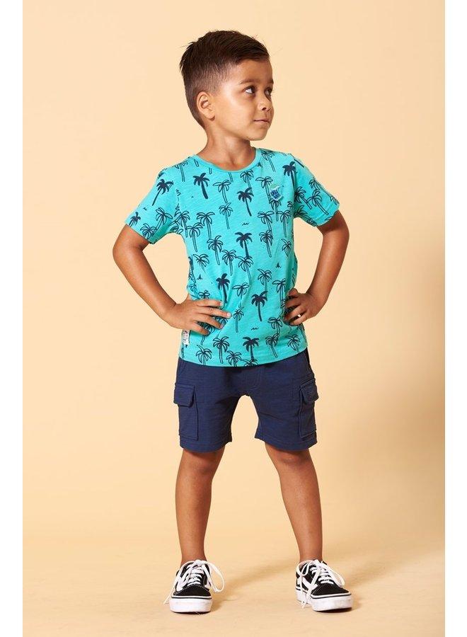 Sturdy - T-shirt AOP Mint - Smile & Wave