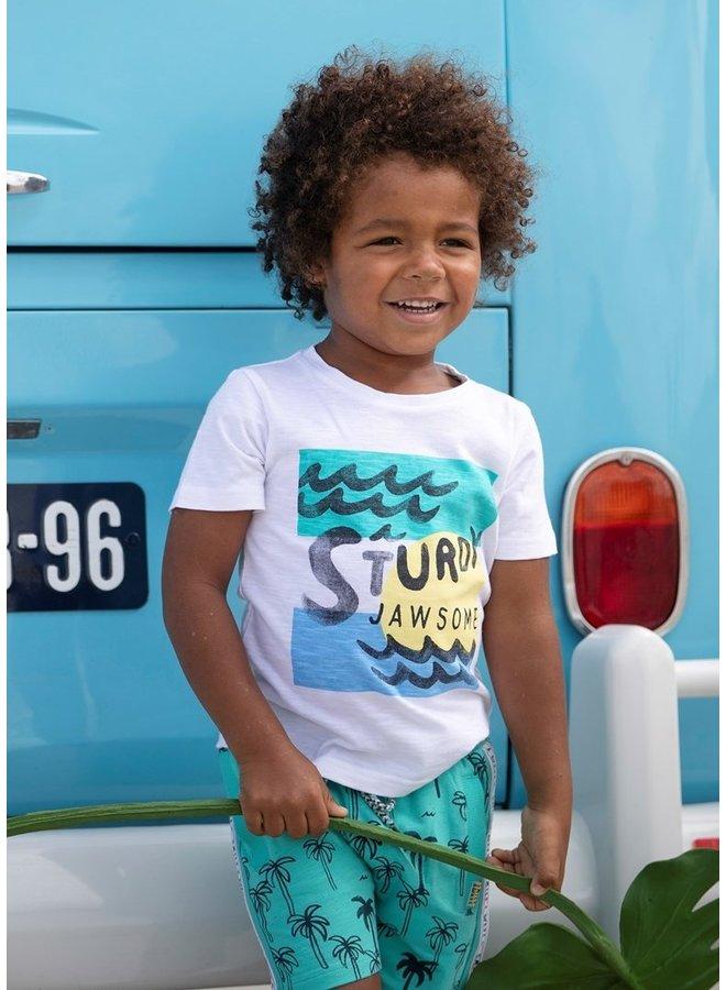 Sturdy - T-shirt Sturdy Wit - Smile & Wave