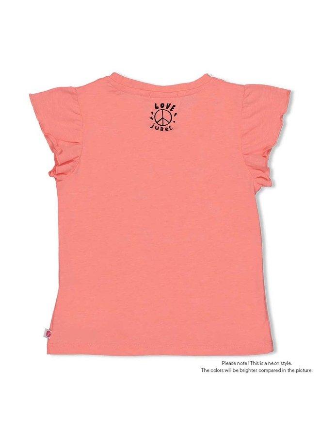 Jubel - T-shirt Neon Koraal - Whoopsie Daisy