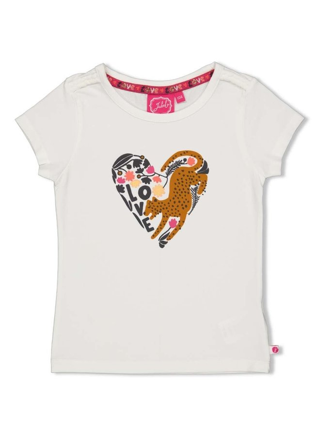 Jubel - T-shirt Offwhite - Whoopsie Daisy