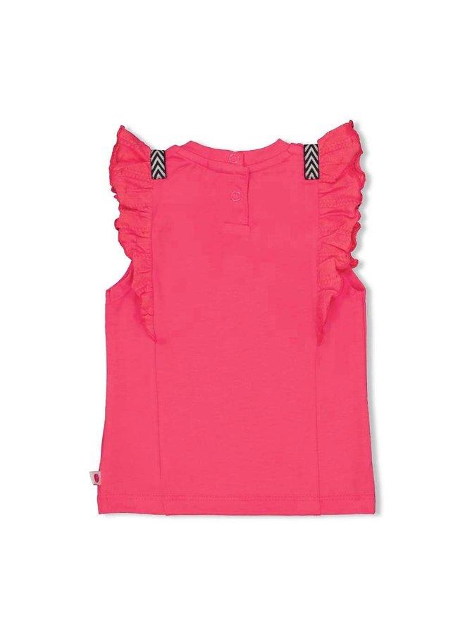 Feetje - T-shirt Rusches Fuchsia - Whoopsie Daisy