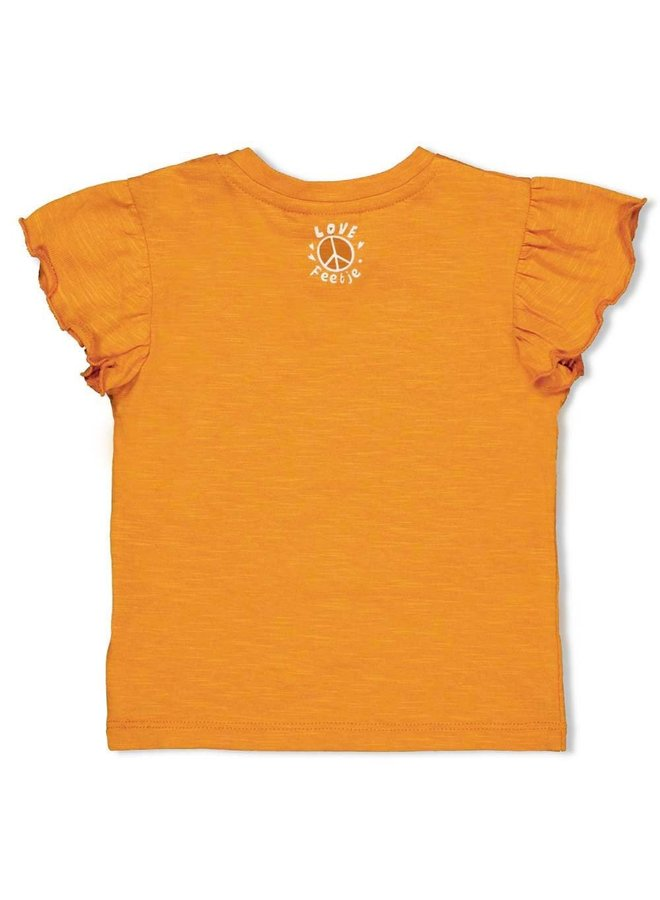 Feetje - T-shirt Peace Okergeel - Whoopsie Daisy