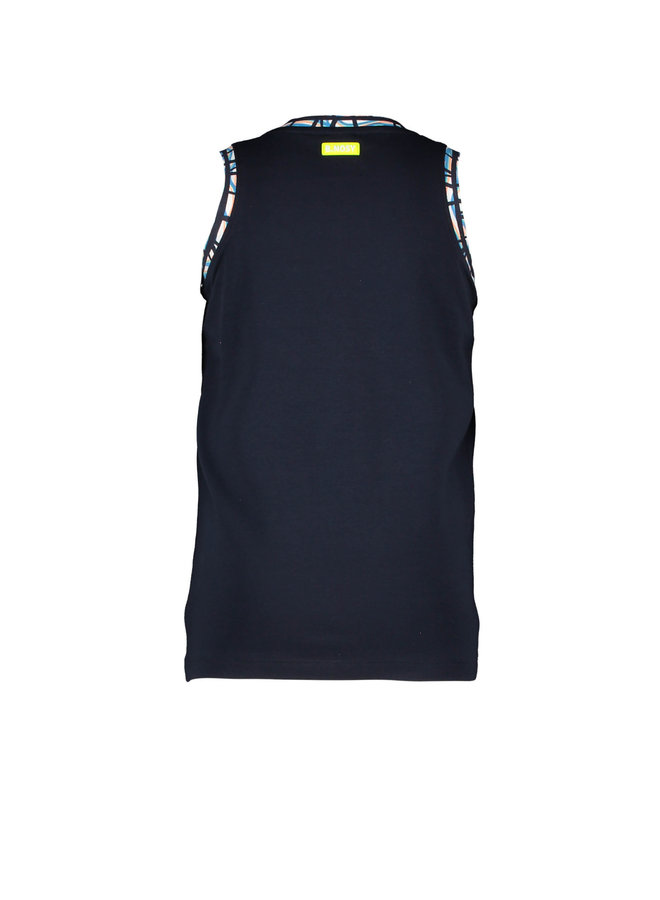 B.Nosy - Tanktop With Artwork On Chest - Oxford Blue