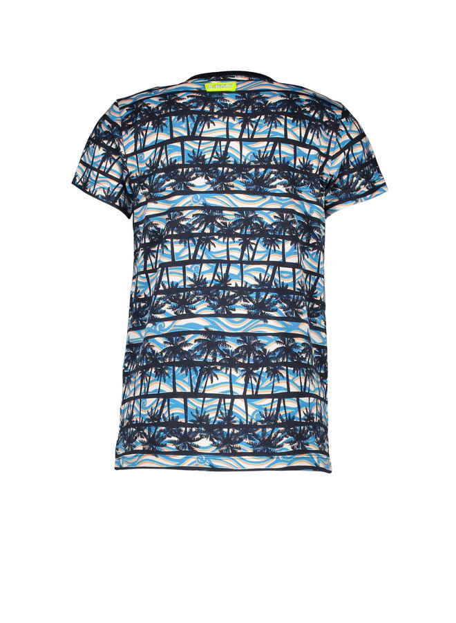 B.Nosy - Shirt With Palm AO And Chest Artwork - On The Beach AO