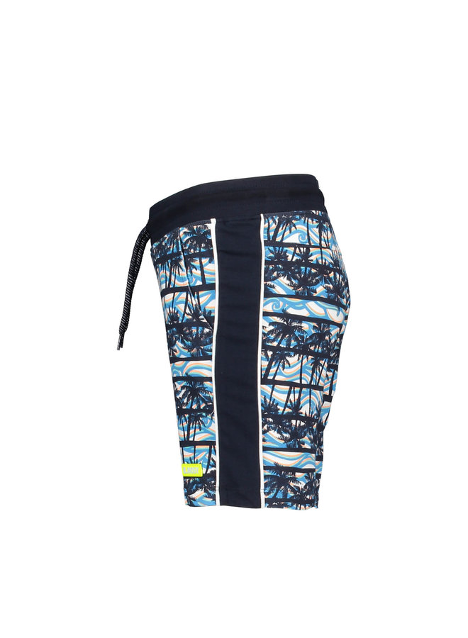 B.Nosy - Shorts With Palm AO And Tape On Sideseams - On The Beach AO