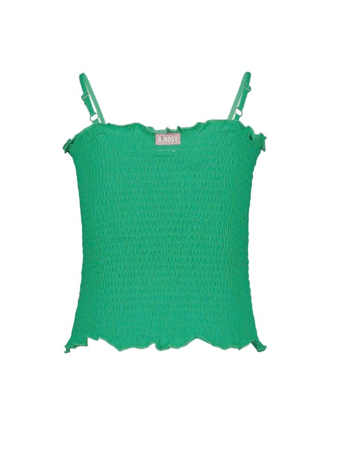 B.Nosy - Smocked Top With Adjustable Straps - Golf Green